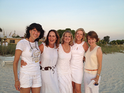 Chi Omega sisters gather for a reunion in June 2012. From left Karn Hunt, Betsy Leonard Booth, Trish Nelson, Janet Carroll and Terry Treadwell.
