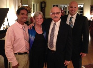 Dr. Mary Peoples-Sheps and Dr. David Sheps with their sons Jacob and Daniel.
